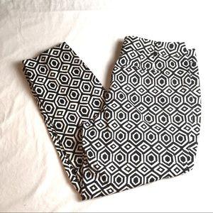 Ann Taylor Factory Pants Black White Curvy 14